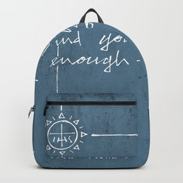 Give me your love and grace. Jesuit illustration Backpack