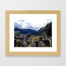Glendalough, Ireland Framed Art Print