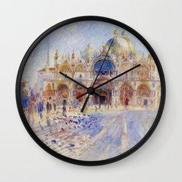 Auguste Renoir - The Piazza San Marco in Venice Wall Clock