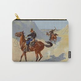 "Frederic Remington Western Art ""The Advance Guard"" Carry-All Pouch"