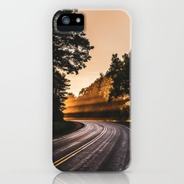 Bright Light Along the Road in Wisconsin iPhone Case