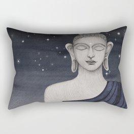 Buddha with stars Rectangular Pillow