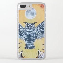 Night Owl Clear iPhone Case