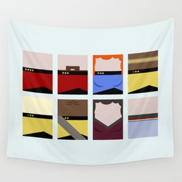 Enterprise 1701 D - Minimalist Star Trek TNG The Next Generation - startrek - Trektangles  Wall Tapestry