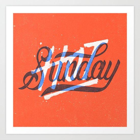 Hot Sunday Art Print