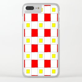 Tribute to mondrian 2- piet,geomtric,geomtrical,abstraction,de  stijl , composition. Clear iPhone Case