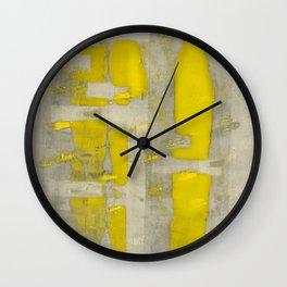 Stasis Gray & Gold 4 Wall Clock