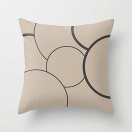 The Shape Of Life - Mid-Century Modern Throw Pillow