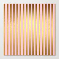 striped Canvas Prints featuring Striped by Better HOME
