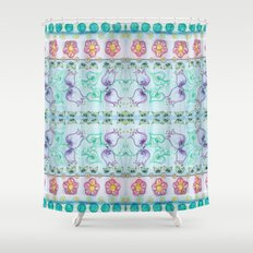 Bluebells and other flowers Shower Curtain