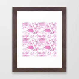 Birth Control Pattern Framed Art Print