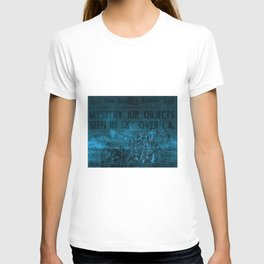 Mystery Air Objects Seen In The Sky Over LA Contemporary Art Portrait T-shirt