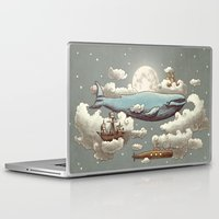 ocean Laptop & iPad Skins featuring Ocean Meets Sky (original) by Terry Fan