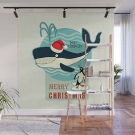 Where is Santa Claus? (background) Wall Mural