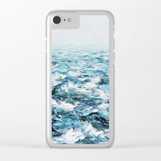 Atlantic Blues Clear iPhone Case