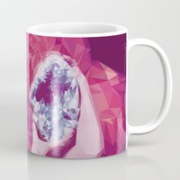 bjork Mugs featuring Bjork Low Poly Collection by Giselle LowPoly