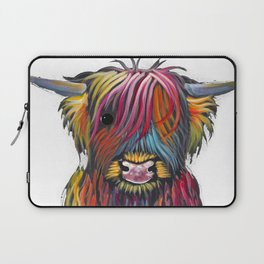 Scottish Highland Cow ' BRaVEHEaRT 2 ' by Shirley MacArthur Laptop Sleeve