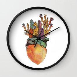 I Heart Cactus Wall Clock