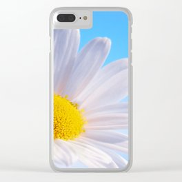 Daisy White 203 Clear iPhone Case
