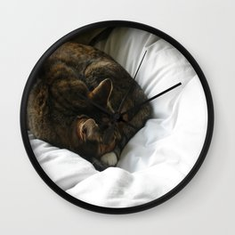 Naptime Purrs Wall Clock