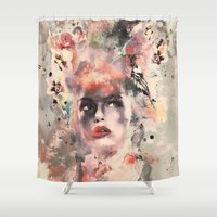 women Shower Curtains featuring Attractive Women by RIZA PEKER