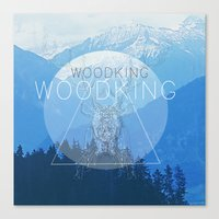 woody Canvas Prints featuring WOODY by Kath Korth