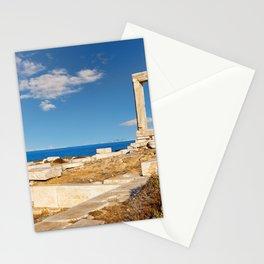 Portara in Chora of Naxos island in Cyclades, Greece Stationery Cards