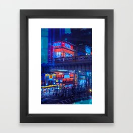 Tokyo Nights / Anime Town / Liam Wong Framed Art Print