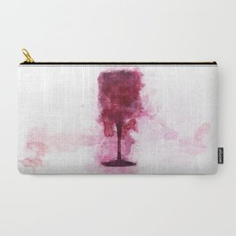 Wine Glass Watercolor Carry-All Pouch