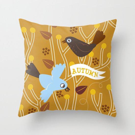 4 Seasons - Autumn Throw Pillow