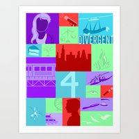 divergent Art Prints featuring Divergent Collage by anthony m sennett