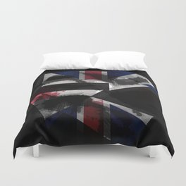 sING's: Plates for the Queen Duvet Cover