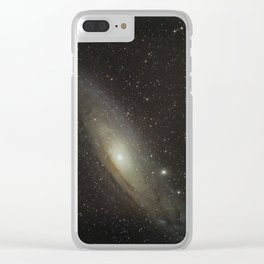 Andromeda Galaxy 12-21-17 Clear iPhone Case