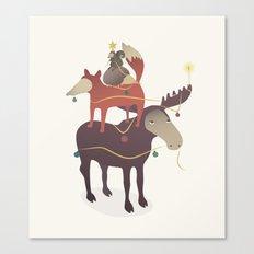 X-Moose Tree Canvas Print