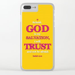 TRUST and not be afraid Clear iPhone Case
