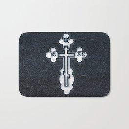 Russian Greek Orthodox Cross Bath Mat