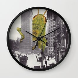 The Green Menace Wall Clock
