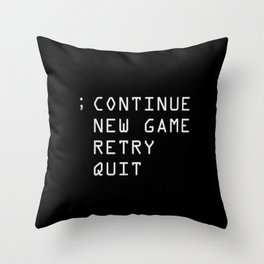 Continue Throw Pillow