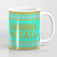 hakuna Mugs featuring Hakuna Matata by M Studio