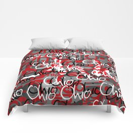 Ohio Scarlett & Gray Day Comforters