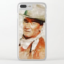 John Wayne by MB Clear iPhone Case