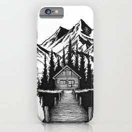 Lake cabin iPhone Case