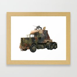 M915 GunTruck Iraq Gulf War Framed Art Print