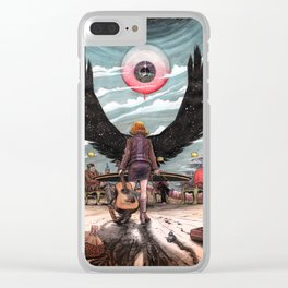 Night Wings Rising Clear iPhone Case