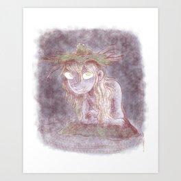 Aquatic darkness Art Print