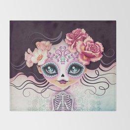Camila Huesitos - Sugar Skull Throw Blanket