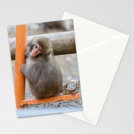 Japanese Snow Monkey Stationery Cards