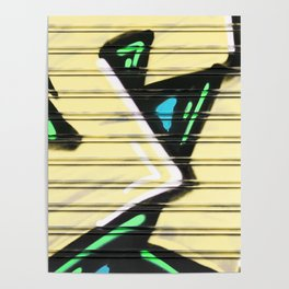 Urban Street Art Collection in Yellow Poster