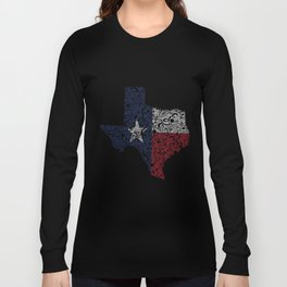 Texas - Hand Sketched Doodle Art Long Sleeve T-shirt