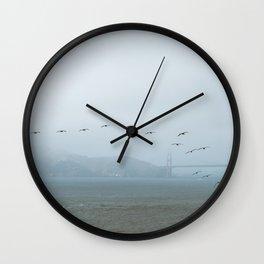 Misty day in San Francisco Wall Clock